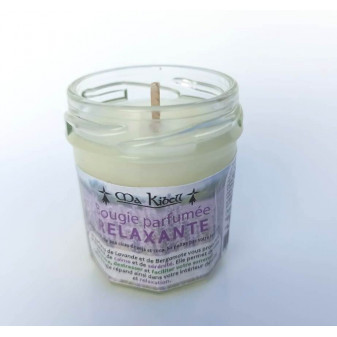 Bougie parfumée RELAXANTE 30g : Lavande, Bergamote