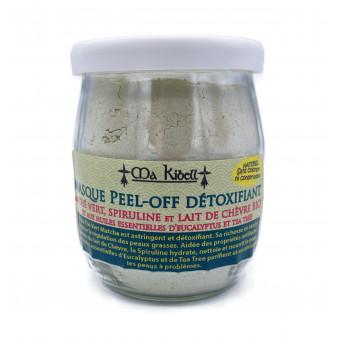 Masque Peel-Off Détoxifiant au Thé vert, Spiruline et Lait de Chèvre Bio et aux Huiles Essentielles d'Eucalyptus et Tea Tree